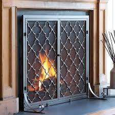 plow hearth 1 panel geometric fireplace screen reviews wayfair