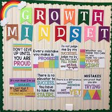 12pcs Growth Mindset Learn English Quotes Proverb Classroom A4 Poster Chart Kids Games Educational Toys For Children