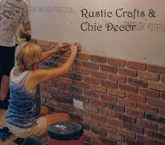 how to install a brick wall inside the