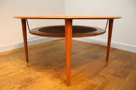 peter hvidt teak circular coffee table france and son denmark