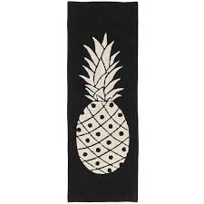 pineapple black and beige washable 8 foot runner rug rc willey furniture