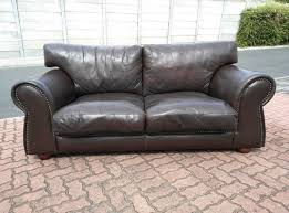 leather couches. Studded Full Grain GENUINE LEATHER Couch 2,10 Meters Leather Couches