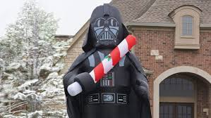 A 16-Foot Tall Inflatable Vader Is Christmas Decorating Done Easy