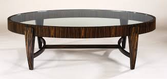 oval glass top coffee table with wooden legs and laminate frame for living room with antique furniture decoration ideas