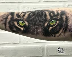 тату тигр тату на руке тату тигр реализм