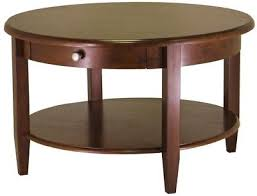 concord walnut coffee table brown wood classic round classic design finish new