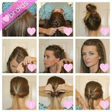 easy hairstyle tutorials braided hairstyle tutorial cute quick hairstyles for short hair diffe styles and you can rock diffe