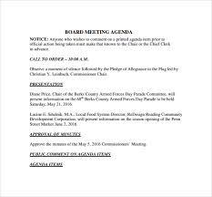 board of directors minutes of meeting template board meeting agenda 11 free samples examples format