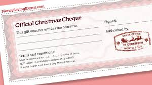 Free Christmas Gift Cheques Pledge To Do Something Nice Rather