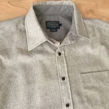 Pendleton Shirt Size Chart Details About Pendleton Mens Lodge Shirt Wool Woolen Mills Beige Tan Nwt Large