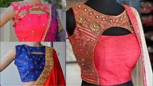 Crop Top Design Pattern New Front Cutout Saree Blouse Design Ideas Crop Top Blouse Design Ideas