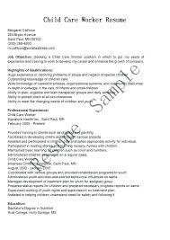 Church Nursery Worker Sample Resume Inspiration Resume Samples For Child Caregiver Feat Child Care Worker Resume