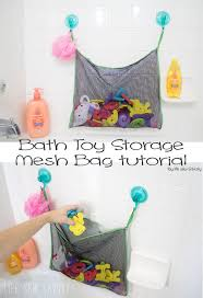 bath toy storage bag with mesh an easy sewing tutorial from life sew savory