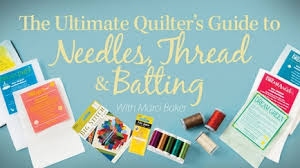 How to Quilt - Video Quilting Classes & The Ultimate Quilter's Guide to Needles, Thread & Batting Adamdwight.com