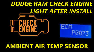 2018 Dodge Ram 1500 Check Engine Light Dodge Ram Check Engine Light After Install Of Tow Mirrors Ambient Air Sensor Harness