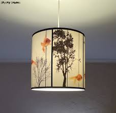 drum shade pendant lighting. Fish Carousel Pendant Lamp Shade Lampshade Lighting Drum