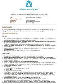 Hr Coordinator Job Description Hr Career Spotlight High