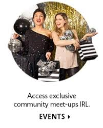 access exclusive munity meet ups irl events two models at an event holding