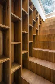 stairs extending from bookcase