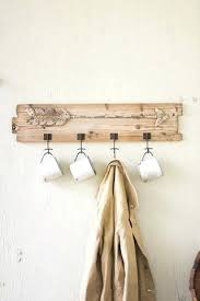 Coat Rack Hardware Cool Rustic Coat Hanger Recycled Wooden Coat Rack With Rustic Arrow