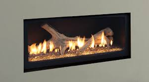 vented propane fireplace smell