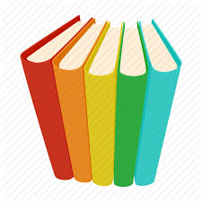 book cartoon cover information literature paper pile icon