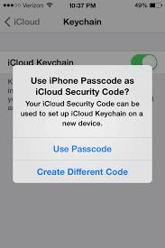 Icloud Security Code How To Setup And Use Icloud Keychain For Mavericks And Ios