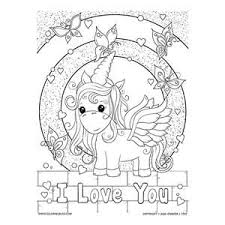 30 valentine's day coloring pages (i love you. I Love You Unicorn