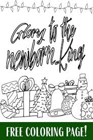 glory to the newborn king free