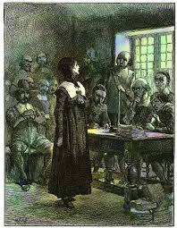 harvard magazine edwin austin abbey s depiction of anne hutchinson on trial appeared in a popular nineteenth century history of the united states