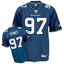 Reebok Throwback Jersey Size Chart Reebok Mens Patrick Kerney Authentic Navy Blue Home Jersey