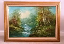 r danford signed original large oil on canvas painting