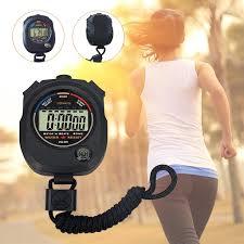 Stopwatches Sporting Goods <b>Waterproof Digital LCD</b> Stopwatch ...