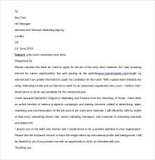 Johnson And Johnson Cover Letter Sample Entry Level Marketing Cover Letter 7 Free Documents In Pdf