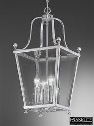franklite atrio small 4 light chrome lantern pendant ceiling fitting la7002 4