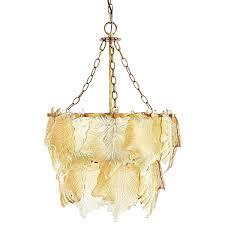 art glass ceiling light maple leaf pendant pier 1 imports lights