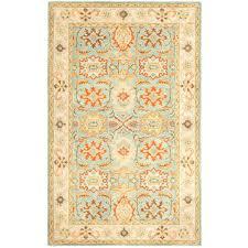 safavieh heritage light blue ivory 6 ft x 9 ft area rug
