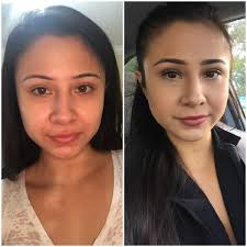 before and after of my everyday makeup for work