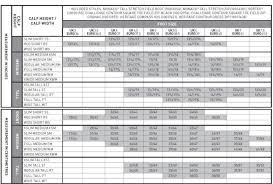 Vortex Size Chart Holmestead Saddlery Irelands Largest