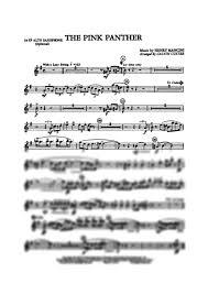 alto sax pink panther sheet music the pink panther e flat alto saxophone henry mancini gustaf