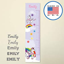 Personalized Princess Growth Chart 321done Personalized Hanging Growth Chart Pink Unicorn With Name Kids Height Ruler Vinyl Banner