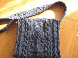 Thistle Knitting Chart Thistle Bag Pattern By Alice Starmore Knitting Crochet