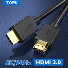 ⭐Cáp Chuyển Đổi TOPK L36 HDMI Đầu Ra Video Độ Phân Giải Cao 4K/60Hz Cổng Mạ  Vàng Dùng Cho Máy Chiếu Xiaomi TV Máy Tính Monitor-1.5M: Mua bán trực tuyến  Cáp TV