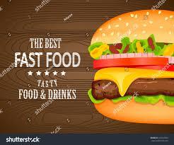 Food Design Poster Fast Food Poster Designvector Illustration Burger Stock