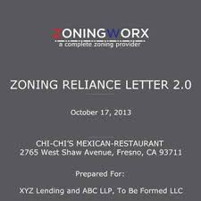 Zoning Research Zoning Documents Zoning Verification Letters