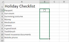 Checklist In Excel Easy Excel Tutorial