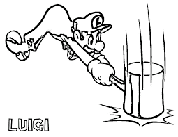Free Luigi Coloring Pages Super Mario