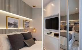 Veja como escolher a cabeceira de madeira ideal para a decoração do seu quarto. Cabeceira Com Painel Ripado Cinza Assim Eu Gosto