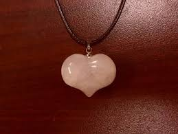 natural stone rose quartz heart necklace increase pority attract love keep love gift jewelry accessories in rancho cucamonga ca offerup