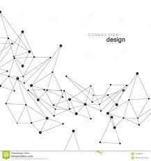 atomdesign vector network connection and atom design stock vector